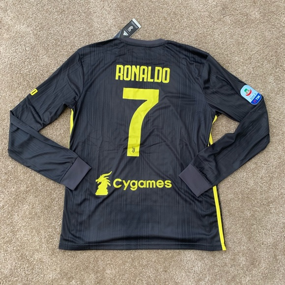 8092dc22 adidas Shirts   Juventus Third L Sleeve 1819 Jersey Ronaldo 7   Poshmark